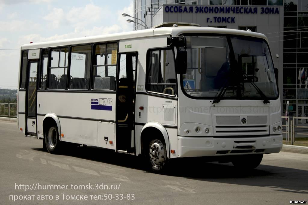 Аренда автобуса Паз - Томск