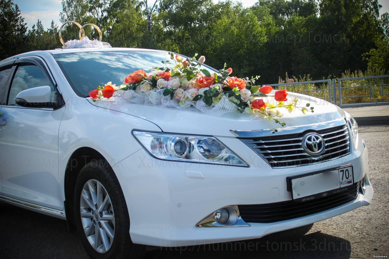 Камри на свадьбах украшение