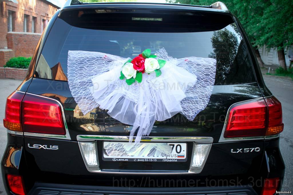 Украшения на чёрную машину фото